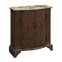 Barrister Warm Brown 2 Door Cabinet with Marble Top