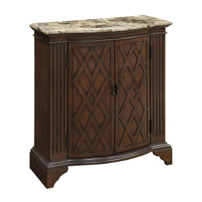 Barrister warm brown 2 door cabinet with marble top rc willey barrister warm brown 2 door cabinet with marble top eventshaper