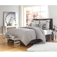 Gray Fusion Queen 7 Piece Bedding Collection