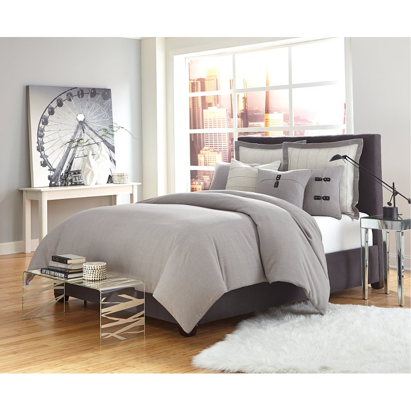 Gray Fusion King 8 Piece Bedding Collection