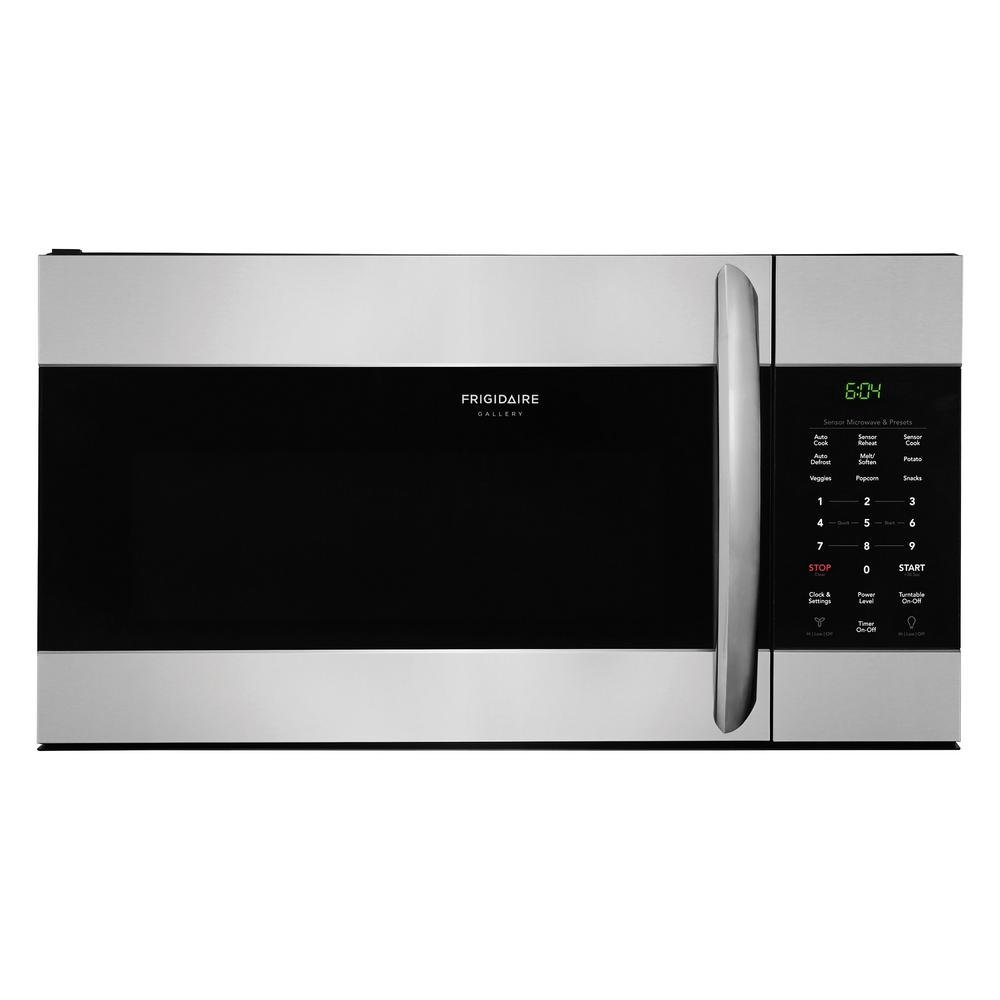fgmv176ntf frigidaire gallery 1 7 cu  ft  over the range microwave in smudge proof frigidaire gallery 4 piece kitchen appliance package with gas      rh   rcwilley com