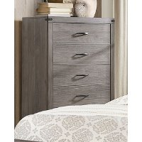 Contemporary Industrial Gray Chest of Drawers - Woodrow