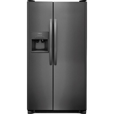 FFSS2615TD Frigidaire 25.5 cu. ft. Side-by-Side Refrigerator - 36 Inch Black Stainless Steel
