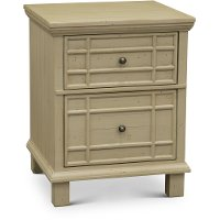 Modern White 2 Drawer Wood File Cabinet - Smooth Reflections