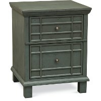 Modern Blue 2 Drawer Wood File Cabinet - Smooth Reflections