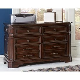 Cherry Brown 5 Drawer Lateral File Cabinet Sheffield
