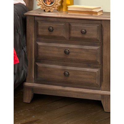 Classic Walnut Brown Nightstand - Hemingway