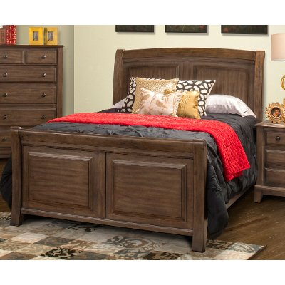 Classic Walnut Brown Queen Bed - Hemingway