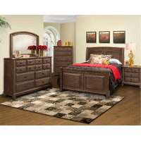 Classic Walnut Brown 4 Piece Queen Bedroom Set - Hemingway