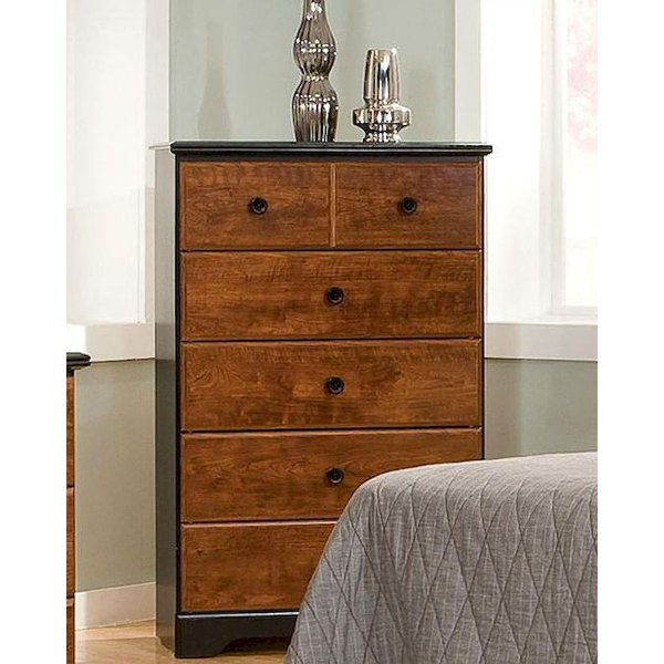 Clearance Classic Contemporary Two Tone Chest Of Drawers   Steelwood