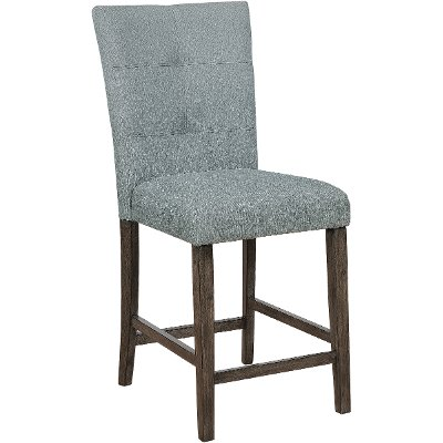 Gray Upholstered Counter Height Stool - Hollis