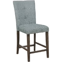 Gray Upholstered Counter Stool - Hollis