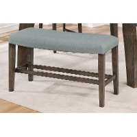 Gray Curved Dining Bench - Hollis