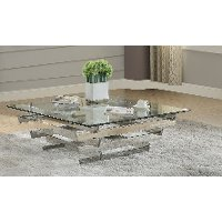Contemporary Geometric Glass Coffee Table - Salonius