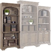 Chestnut Brown Open Bookshelf - Arcadia