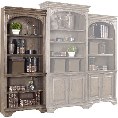 traditional cherry bookcase design open bookshelf product bookcases home hooker by warwick