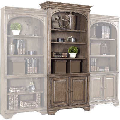 Chestnut Brown Display Bookshelf - Arcadia