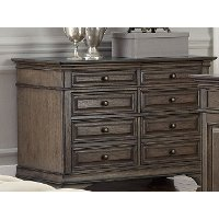Chestnut Brown 4 Drawer Lateral Wood File Cabinet - Arcadia