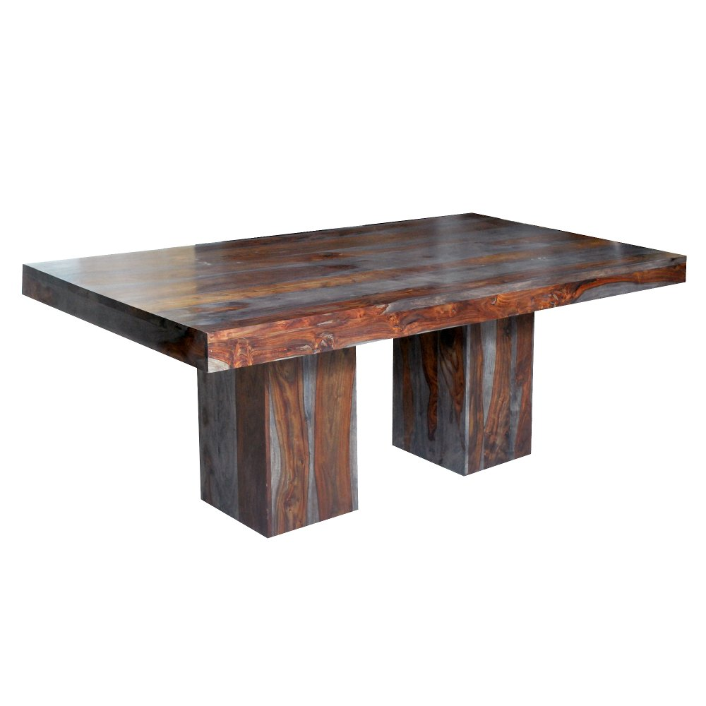 Russet and gray solid sheesham dining table grayson rc willey russet and gray solid sheesham dining table grayson rc willey furniture store geotapseo Image collections