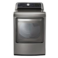 DLE7200VE LG 7.3 cu. ft. Ultra Large Capacity Electric Dryer with Sensor Dry Technology - Graphite Steel