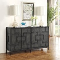 Dark Gray 4-Door Credenza - Amberly