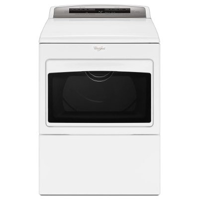 WED7500GW Whirlpool Electric Dryer with Intuitive Touch Controls - 7.4 cu. ft. White