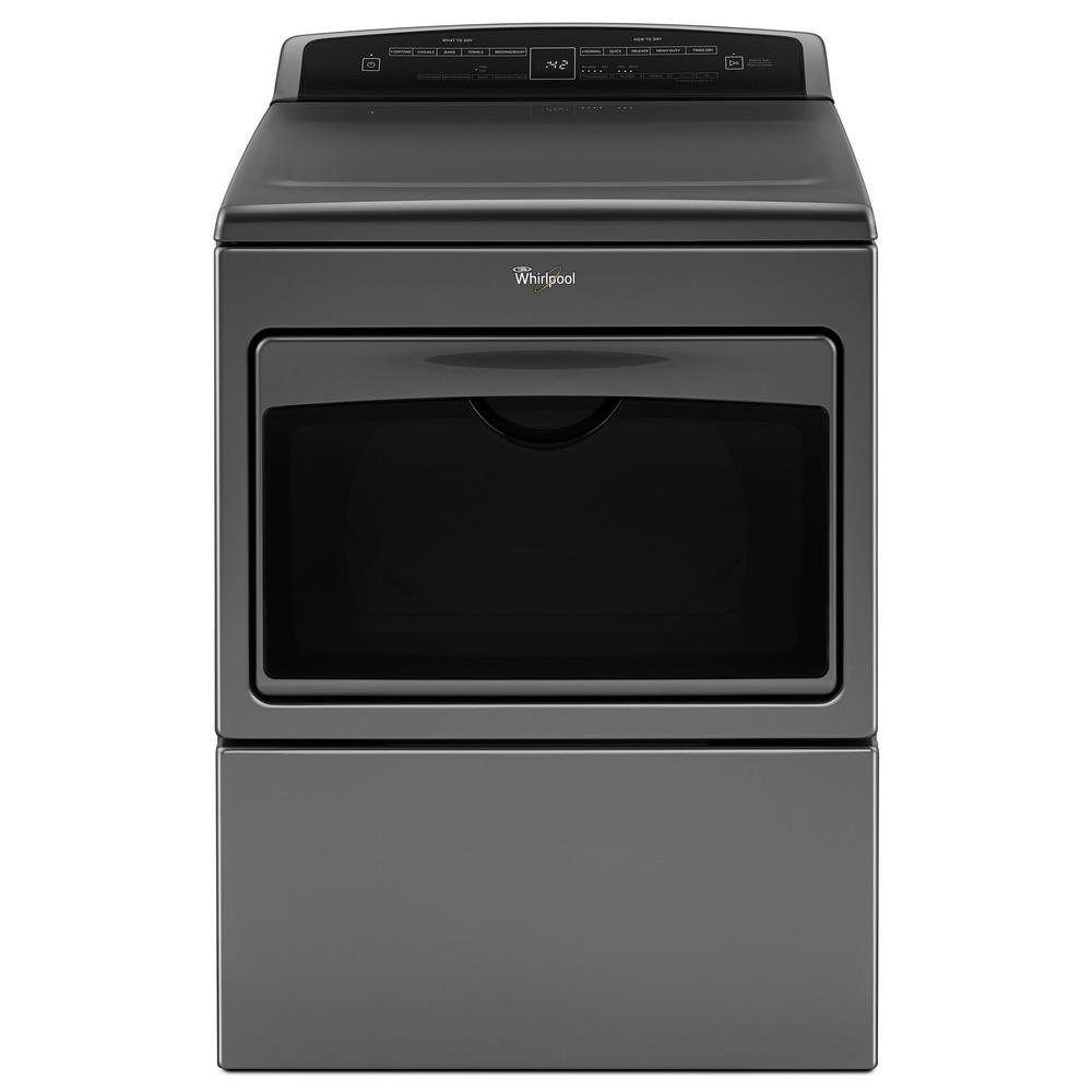 Electric Dryer with H&er Door - Chrome Shadow | RC Willey Furniture Store  sc 1 st  RC Willey & Whirlpool 7.4 cu. ft. Electric Dryer with Hamper Door - Chrome ...