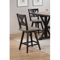 Sand and Black 24 Inch Swivel Counter Height Stool - Orlando
