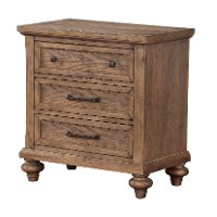 25192-410/NIGHTSTAND Classic Traditional Oak Nightstand - Franklin