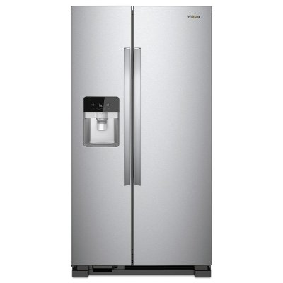WRS325SDHZ Whirlpool Side-by-Side Refrigerator - 36 Inch Finger Print Resistant Stainless Steel