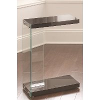 Modern Contemporary Black Side Table - Elaina