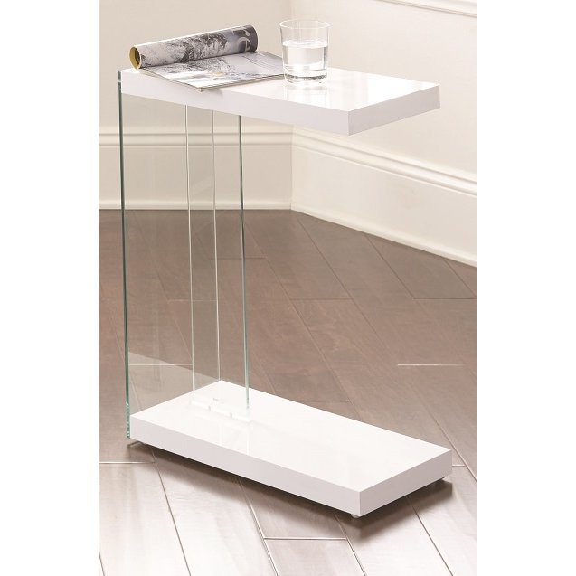 Modern Contemporary White Side Table Elaina Rc Willey
