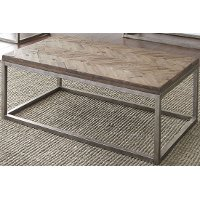 Casual Rustic Honey Brown Coffee Table