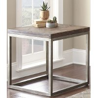 Casual Rustic Honey Brown End Table - Lorenza