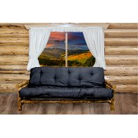 MWGCFMR Rustic Country Brown Futon Bed - Glacier
