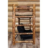 MWGCTWFMR Rustic Country Brown Twin Bunk over Full Futon Bed - Glacier