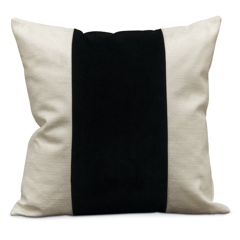 22 white throw pillow with black band   franklin rcwilley image1~800