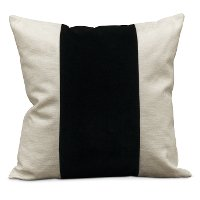 22  White Throw Pillow with Black Band - Franklin