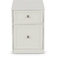 Two Drawer White File Cabinet - Catalina