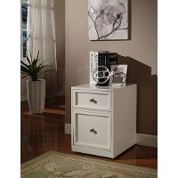 White 2 Drawer Rolling File Cabinet - Catalina