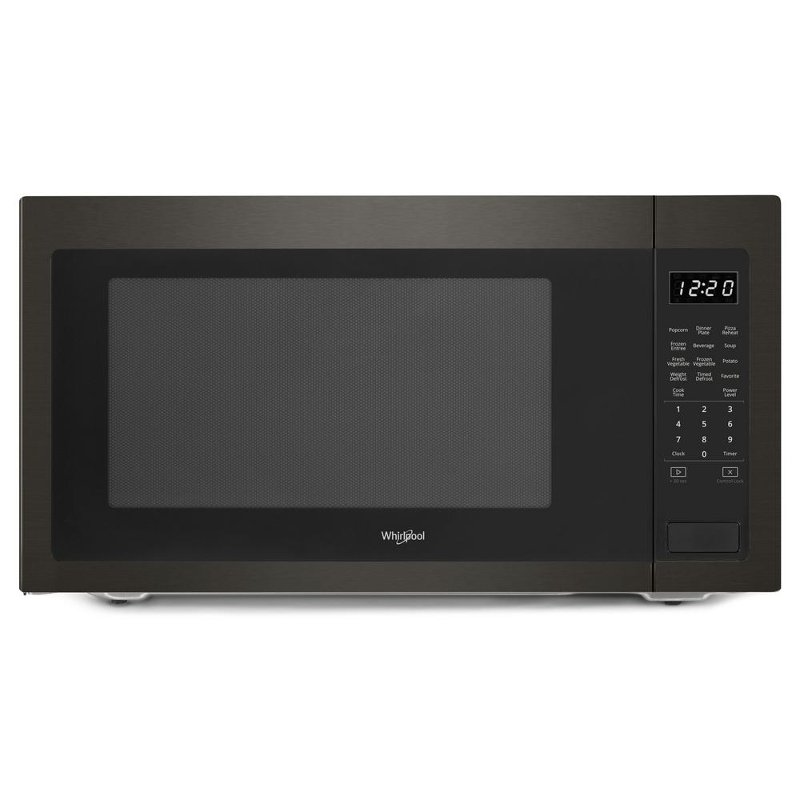 Whirlpool Countertop Microwave 2 Cu Ft Black Stainless Steel Rc Willey Furniture
