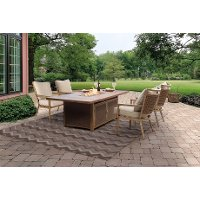 5PC:TREVI,4LOUNGE 5 Piece Fire Pit Outdoor Dining Set - Trevi