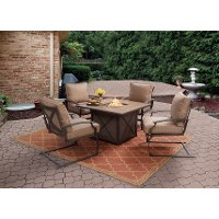 5PC:SONOMA/FIRECHAT 5 Piece Outdoor Patio Fire Pit Set - Sonoma