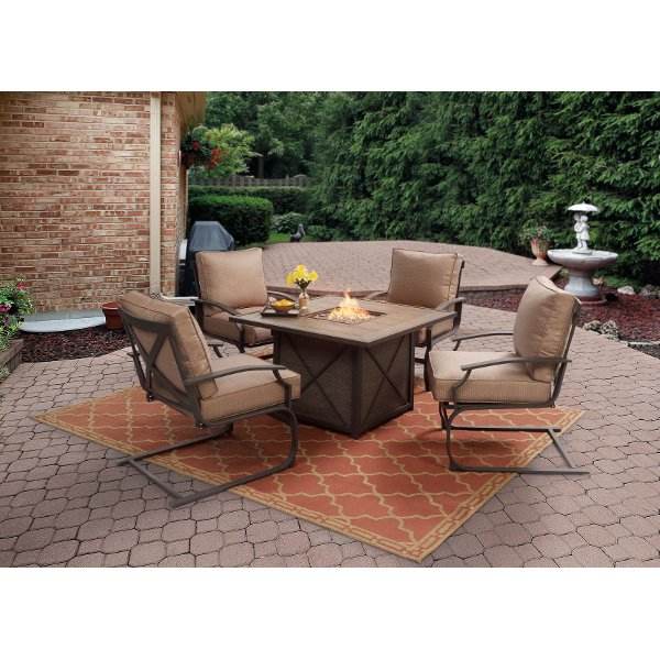 ... 5PC:SONOMA/FIRECHAT 5 Piece Outdoor Patio Fire Pit Set   Sonoma