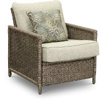 17A0365T/LOUNGEROCKR Wicker Outdoor Rocking Patio Chair - Shadbrook