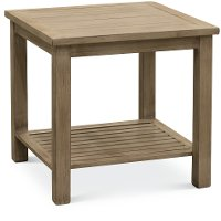 Tan Outdoor Aluminum End Table - Plank