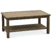 Brushed Birch Outdoor Aluminum Coffee Table - Plank