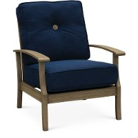 Navy Outdoor Patio Chair - Plank