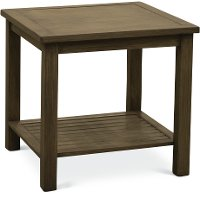 Brushed Birch Outdoor Aluminum End Table - Plank