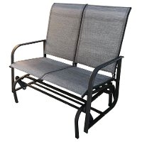 2 Seat Gray Outdoor Patio Glider
